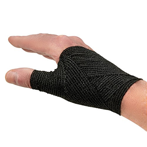 Self-Adherent Cohesive Bandage – 12 Pack Bulk | Black Self-Adhering Medical Wrap | 2″ Wide x 5 Yards Athletic Sports Tape Sweat & Water Resistant, First Aid deal 50% off 51zXXw2NcwL