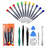 21pcs Precision Screwdriver Set Magnetic,GangZhiBao Repair Tools Kit for Fix Phone/iphone,Computer/PC,Tablet/Pad,Watch,PS4 - Replace Screen Battery Camera Small Electronics Open Pry Tool Kits Sets DIY