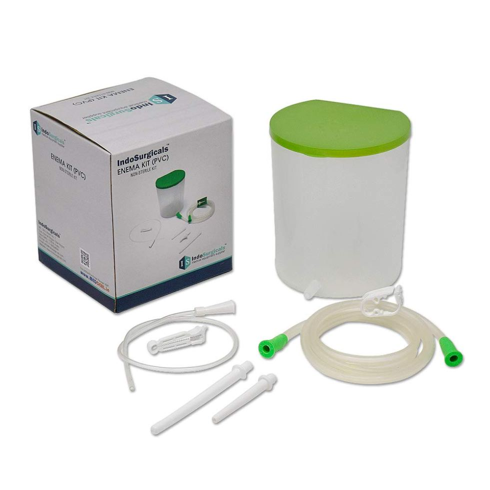 IS IndoSurgicals PVC Enema Kit for Home use with Instruction page on Swasthya Sathi health insurance