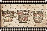Oversized Chef Series 24'x36' Antifatigue Kitchen Mats (COFFEE WORDS)