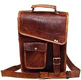 jaald Leather Messenger Bag for Men Women 13' Laptop Shoulder Bag ipad Bag Satchel for Men Courier Bag Briefcase