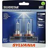 SYLVANIA H11 SilverStar High Performance Halogen Headlight Bulb, (Contains 2 Bulbs)