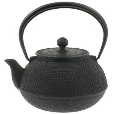 Iwachu Japanese Iron Tetsubin Teapot, Hobnail, 41 oz, Black