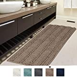 Chenille Plush Bath Rug for Bathroom, Extra Soft and Thick Bath Mat for Massage Non Slip Machine Washable Bath Mat Runner Area Rug for Kitchen/Tub/Living Room (1 Pack, 47' x 17')