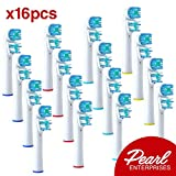 Oral B Electric Toothbrush Replacement Heads - 16 Generic Oral B Replacement Brush Heads - Pearl Enterprises Quality Electric Toothbrush Heads For Oral B