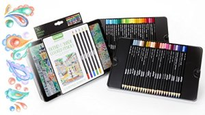 Crayola Signature Blend & Shade Soft Core Colored Pencils in Tin, Gift – 50Count