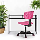 Product review for Homy Casa Office Task Desk Chair Computer Low-back Adjustable Children Study Multifunction Chair Mesh Hollow Pink …