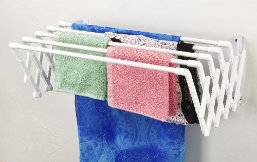 EXPANDABLE WALL MOUNTABLE CLOTHES DRYING RACK BY JUMBL