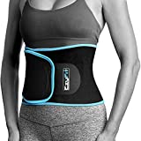 EzyFit Women & Men Waist Trimmer, Black with Blue Trim, Fits: 24' - 42'