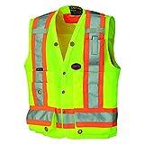 Pioneer V1010140U Hi-Vis Surveyor's Safety Vest - Yellow / Green (2XL)