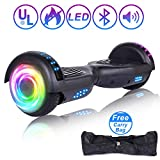 SISIGAD Hoverboard Self Balancing Scooter 6.5' Two-Wheel Self Balancing Hoverboard with Bluetooth Speaker and LED Lights Electric Scooter for Adult Kids Gift UL 2272 Certified - Pure Color Series