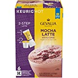 Gevalia Mocha Latte Espresso Keurig K Cup Coffee Pods & Froth Packets (36 Count, 6 Boxes of 6)