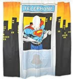 Superman shower curtain telephone