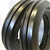 (2 TIRES + 2 TUBES) 6.00-16 8PLY ROAD WARRIOR F2 3-Rib Farm Tractor Tire 6.00x16
