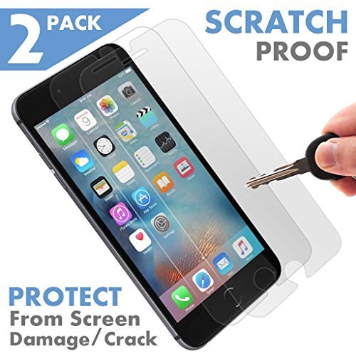 [2 Pack - Premium ] Apple iPhone 7 Plus Tempered Glass Screen Protector - Shield, Guard & Protect Phone from Crash & Scratch - Anti Fingerprint, Smudge & Shatter Proof - Best Front Cover Protection