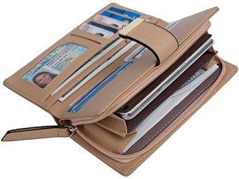 Porte-Monnaie-Femme-TMEOG-Porte-Monnaie-en-Cuir-Bifold-Wallet-en-Cuir-en-Cuir-Porte-Cartes-en-Cuir-Porte-Monnaie-en-Cuir
