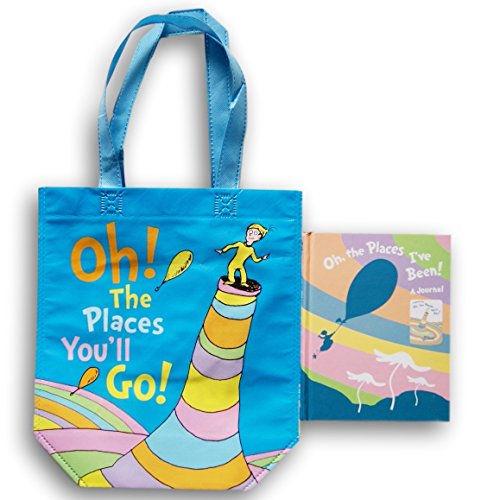 Dr. Seuss Oh the Places Youll Go School Supply Set - Tote Bag and Journal