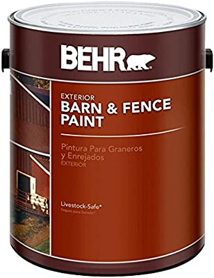 Behr 1 Gal Red Exterior Barn And Fence Paint Amazon Co Uk Diy Tools