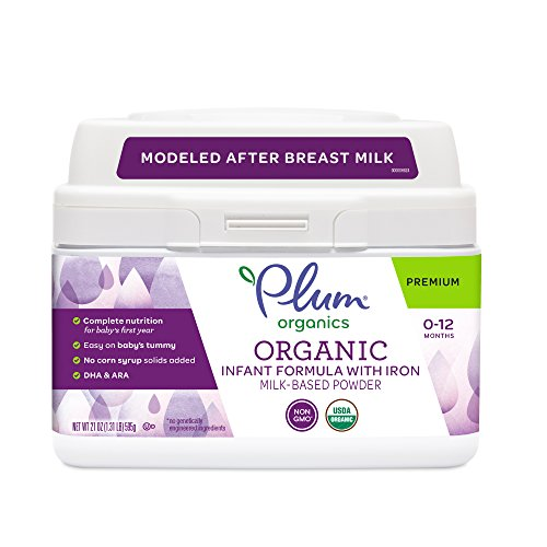 Plum Organics Grow Well, Organic Infant Formula with Iron, 21 Ounce
