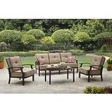 Better Homes and Garden Carter Hills Outdoor Conversation Set, Seats 5 (Tan)