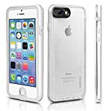 iPhone 7 Plus Waterproof Case - SHARKCASE Underwater Full-Sealed Clear Protective Case, Shockproof Snow Dust Proof Hard Cover for iPhone 7 Plus, 5.5'' White