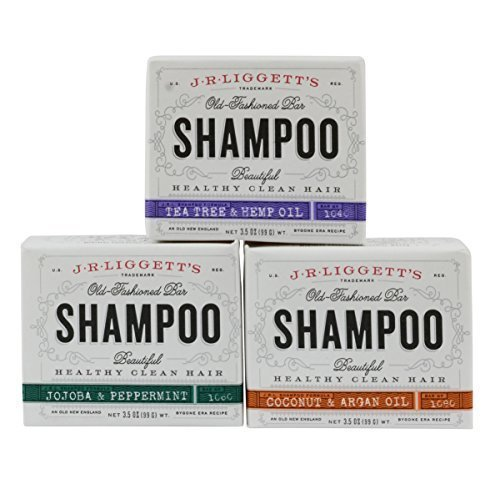 J.R. Liggett's Old Fashioned Shampoo Bar 3.5 Ounces (Variety 3 Pack)