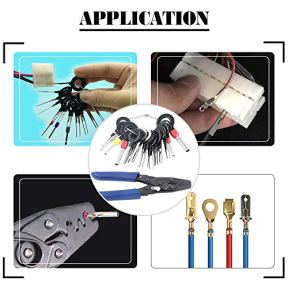 Glarks-Pin-Terminals-Tool-Set-A-Crimper-Tool-and-21Pcs-Pin-Terminals-Removal-Key-Tools-for-Car-Auto-Wire-Connector-Terminal-Pin-Crimping-and-Extractor-Puller-Remover-Repair