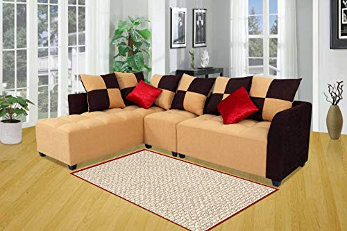Muebles-Casa-Cornett-Six-Seater-L-Shaped-Sofa-Beige-and-Brown