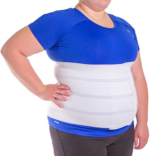 BraceAbility 4XL Plus Size Bariatric Abdominal Stomach Binder | Obesity Girdle Belt for Big Men & Women with a Large Belly, Post Surgery Tummy & Waist Compression Wrap 1