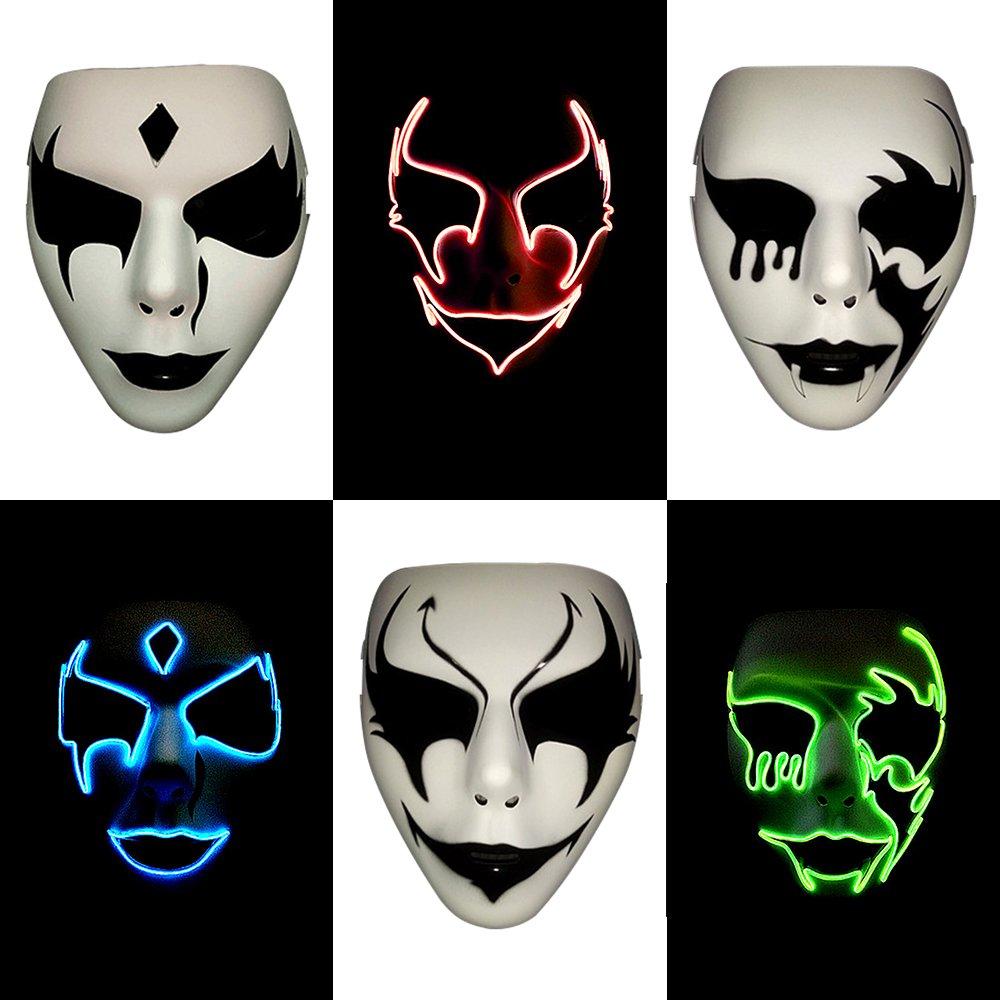 Bonamama LED Maske Partys Rave Festivals