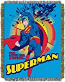 "DC Comics Superman, ""Smash"" Woven Tapestry Throw Blanket, 48"" x 60"", Multi Color"