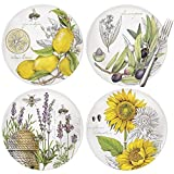 Mary Lake-Thompson Botanical 8-inch Melamine Plates, Set of 4