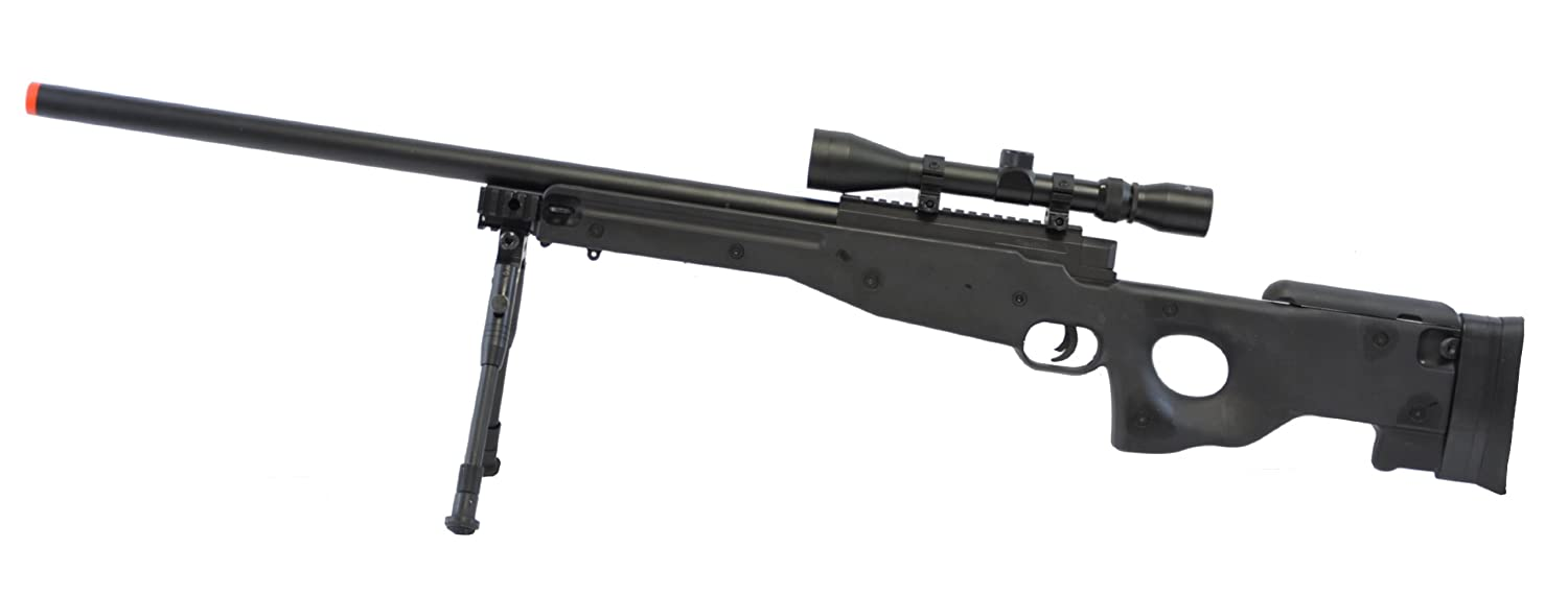BBTac Airsoft Sniper Rifle BT-L96 Bolt Action Spring with Bipod & Scope Package