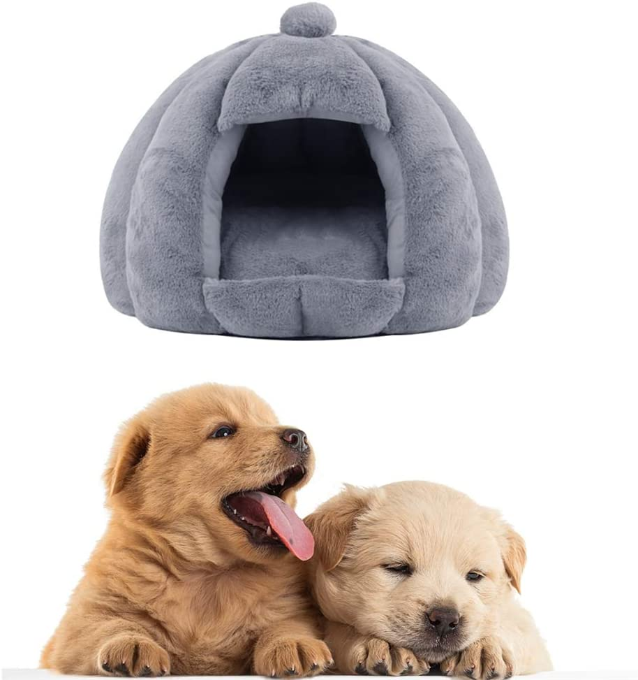 Qingqingxiaowu Puppy Bed Dog Cave Bed Small Cat Bed Fluffy Dog Bed Vet Bed For Dogs Dog Bed Portable Dog Bed Dog Sofa Bed Fluffy Cat Bed Tent Pet Bed Grey Amazon Co Uk