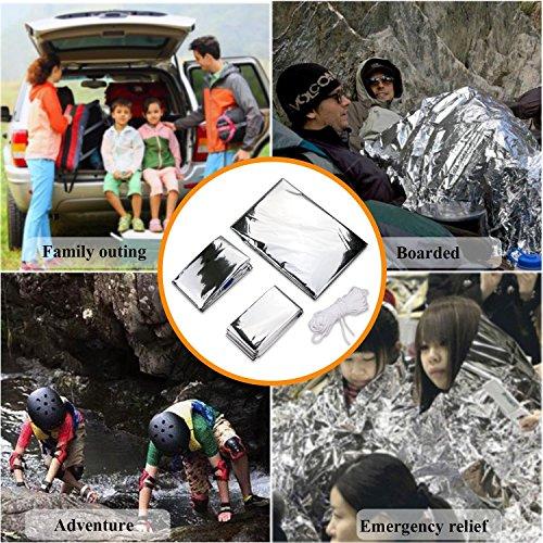 3 en 1 emergencia supervivencia manta para tienda de campaña saco de dormir, Wady Portatil Carpa Refugio De Campamento De Emergencia Plegable Supervivencia Al Aire Libre Para Acampar 5