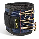 Magnetic Wristband Kaptisto 15 Strong Magnets for Holding Tools Screws Nails Drill Bits Gadgets - Best Unique Gift for Father Husband Guys DIY Handyman Boyfriend Men Women