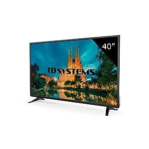 Téléviseur 40 Pouces LED Full HD TD Systems K40DLM7F. Résolution 1920 x 1080, 3X HDMI, VGA, USB Lecteur et enregistreur