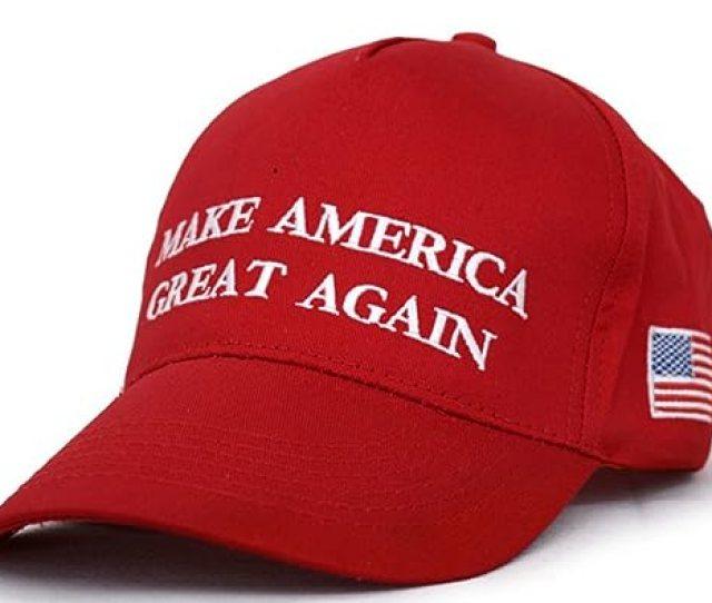 Besti Make America Great Again Donald Trump Slogan With Usa Flag Cap Adjustable Baseball Hat Red At Amazon Mens Clothing Store