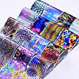 Nail Foils Transfer Stickers Decals Holographic Nail Art Starry Paper Manicure (Pattern - #49)