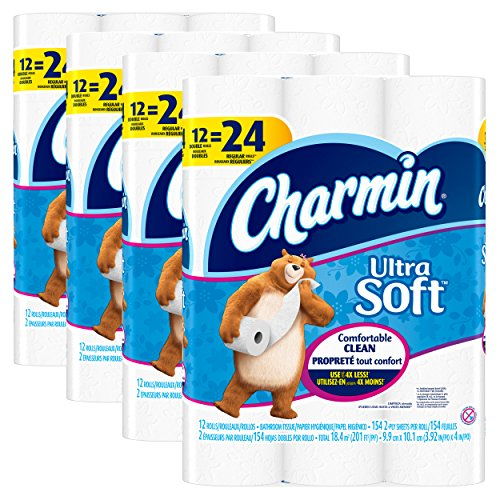 Charmin Ultra Soft Toilet Paper, Bath Tissue, Double Roll,...