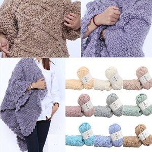 Gaddrt Hand-Woven Polyester Wollen Ball Multicolor Crochet Soft Knitting Yarn Fiber Natural Yarn (E) 61 d0M1VfVL