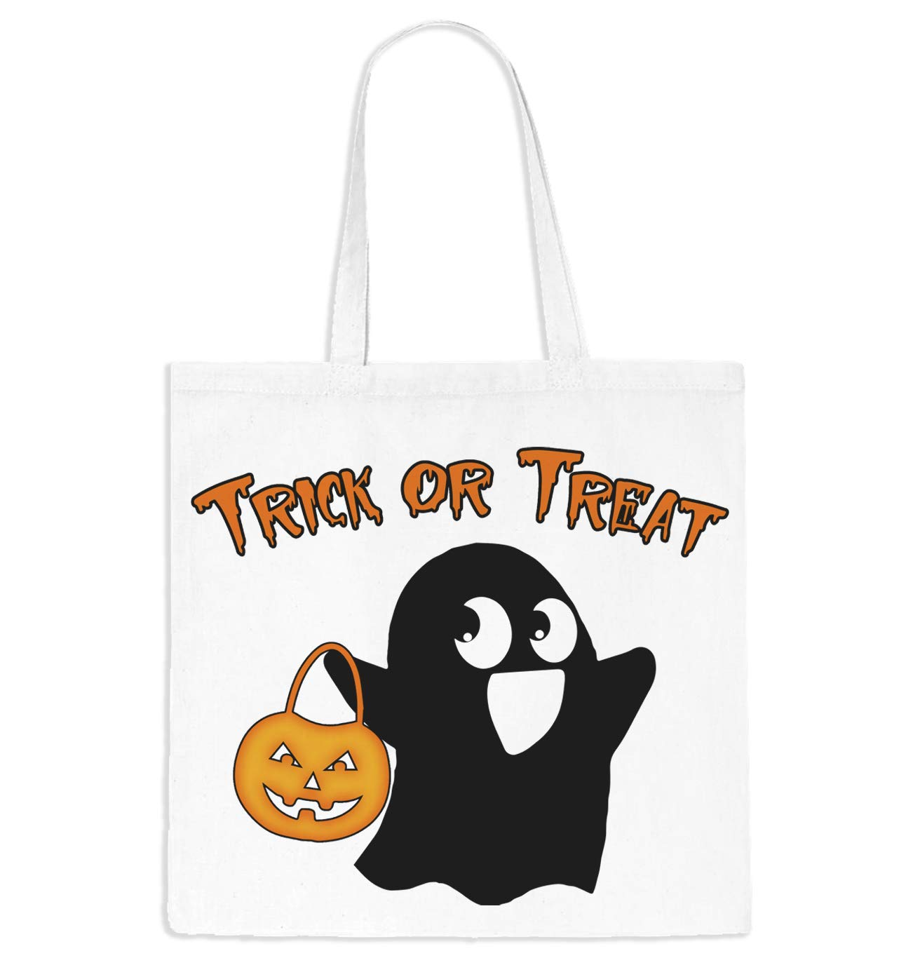 Amazon Com Trick Or Treat Ghost Tote Bag Tote Bag Trick Or Treat Bag Monogrammed Trick Or Treat Halloween Bag Halloween Candy Bag Unisex Candy Bag Handmade
