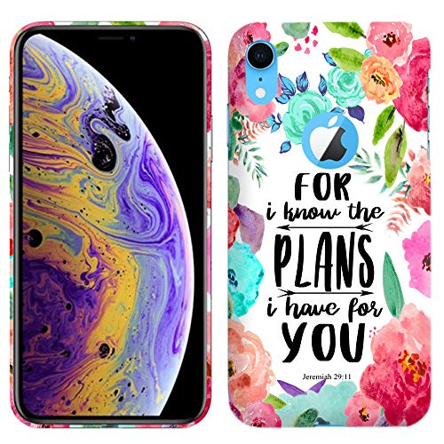 Glisten - Designer Hard Plastic Case for iPhone Xs Max (6.5 Inch) - for I Know The Plans I Have for You Jeremiah 2911 Printed Slim Profile Cute Snap On Back Cover