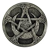 Dryad Design Pewter Moon Pentacle Altar Tile