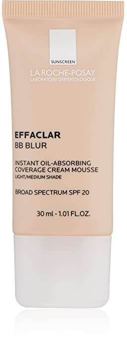 Effaclar BB Blur Instant Oil-Absorbing Coverage BB Cream with Mineral Sunscreen SPF 20