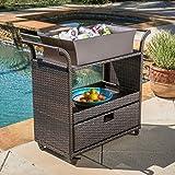Product review for Maja Multi-Brown Wicker Bar Cart