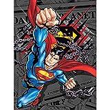 "JPI Superman Daily News Twin Size Plush Blanket 60""x80"""