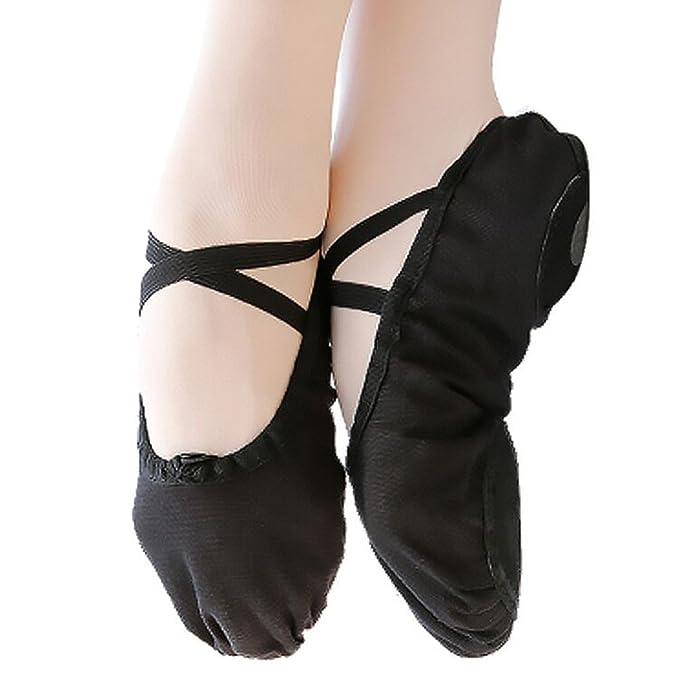 zapatos de ballet, zapatos de danza, zapatos de yoga con suela divididahttps://amzn.to/2L6BIS5
