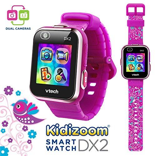 VTech Kidizoom Smartwatch DX2 Floral Birds w/Bonus Vivid Violet Wristband