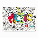 MacBook Pro 13 Case 2018 2017 2016 Release A1989/A1706/A1708 - AQYLQ Plastic Hard Case Shell Cover for Newest MacBook Pro 13 Inch with/Without Touch Bar and Touch ID - Colorful Music